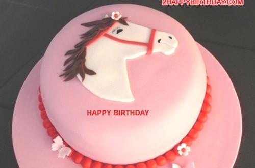 Happy Birthday Horse Cake With Name