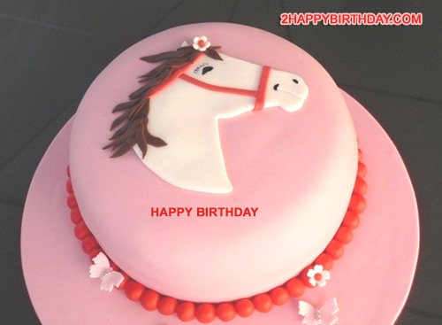 Happy Birthday Horse Cake With Name