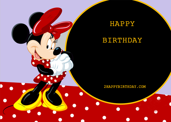 Well-known Mickey Mouse Birthday Card With Name - 2HappyBirthday YD63