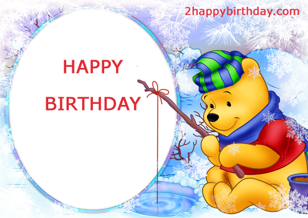 Write Name On Winnie The Pooh Birthday Card 2happybirthday
