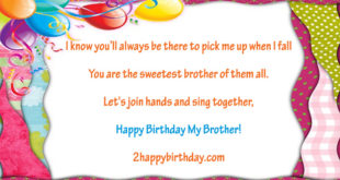 Unique Birthday Wishes Quotes For Brother