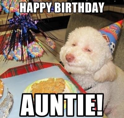 Happy Birthday Meme Aunty