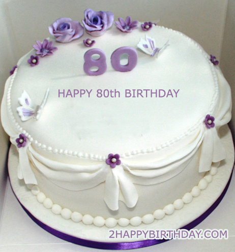 Happy 80th Birthday Cake With Name Edit