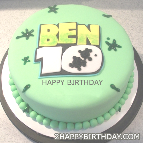 BEN 10 Themed Birthday Cake With Kids Name 2HappyBirthday