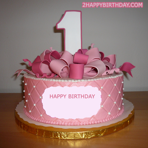 Happy 1st birthday cake for daughter with name 2happybirthday publicscrutiny Image collections
