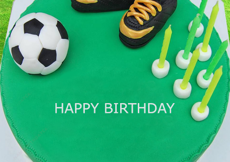 Football Birthday Cake With Name Editor