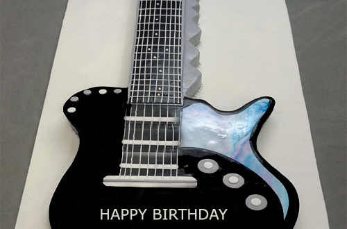 Guitar Birthday Cake With Name Editor 2HappyBirthday