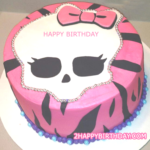 Excellent Monster High Birthday Cake With Name 2Happybirthday Funny Birthday Cards Online Fluifree Goldxyz