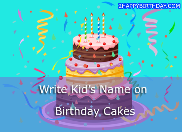 Happy Birthday Cake Images With Kids Name