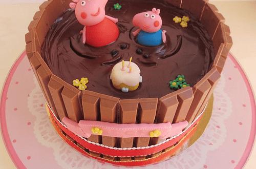 Stupendous Peppa Pig Birthday Cake With Kids Name 2Happybirthday Personalised Birthday Cards Arneslily Jamesorg
