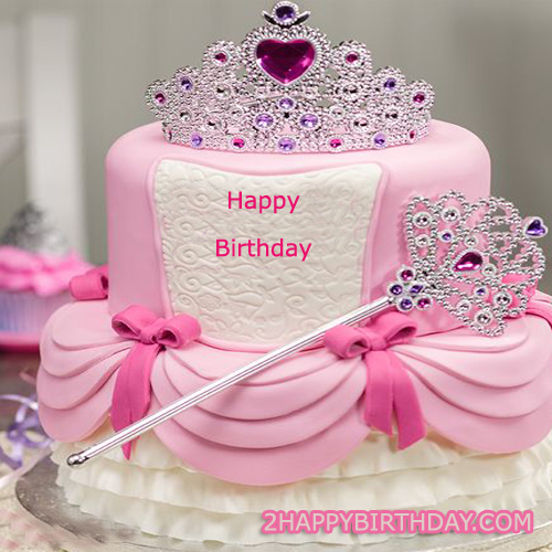 Happy Birthday Princess Cake For Girls With Name