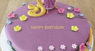 Create A Personalized Rapunzel Themed Birthday Cake For Your Little Ones On Their Special Day Wish Girls By Writing Name