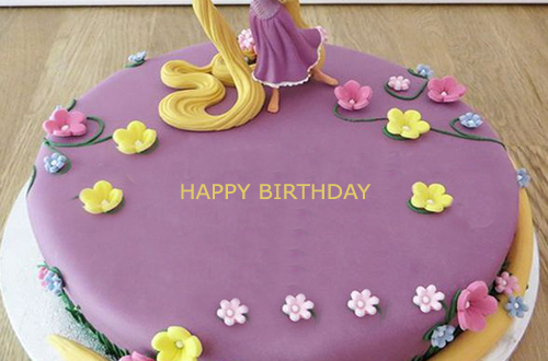 Fine Rapunzel Birthday Cake With Name 2Happybirthday Funny Birthday Cards Online Overcheapnameinfo