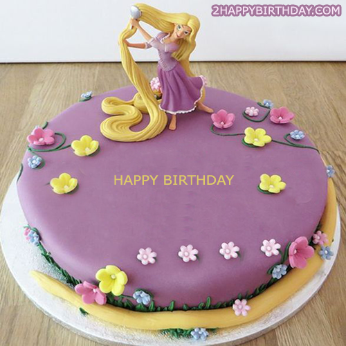 Remarkable Rapunzel Birthday Cake With Name 2Happybirthday Funny Birthday Cards Online Aeocydamsfinfo