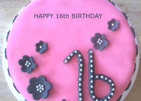 Sweet 16 Birthday Cake With Girl S Name 2happybirthday