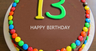 Its The Thirteen Birthday Of Your Son Daughter Check Out 13th Wishes Here We Bring You A Chocolate Cake For 13 Year Old Kids