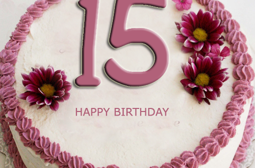Happy 15th Birthday Cake With Name Editor - 2HappyBirthday