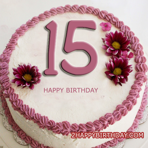 Terrific Happy 15Th Birthday Cake With Name Editor 2Happybirthday Funny Birthday Cards Online Inifofree Goldxyz