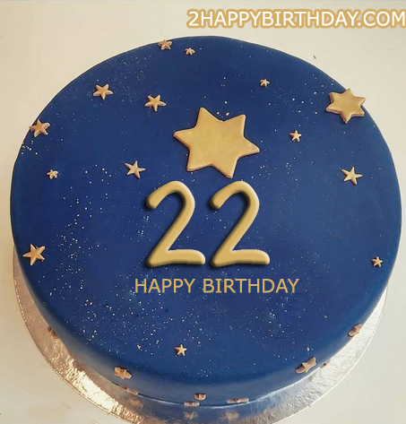 22nd Birthday Cake With Name