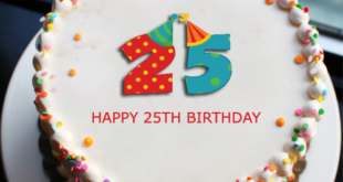 Check Out This 25th Birthday Cake Write The Name Of Your Friend On Greet Him Her