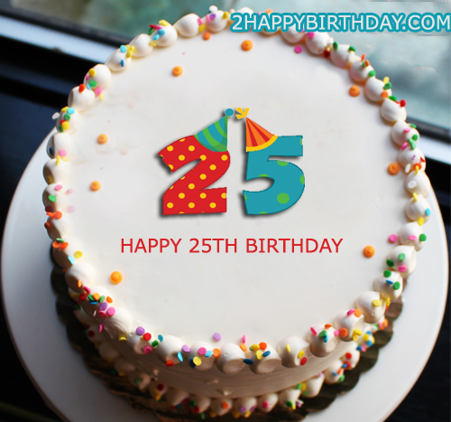 Enjoyable 25Th Birthday Cake With Name Editor 2Happybirthday Funny Birthday Cards Online Alyptdamsfinfo