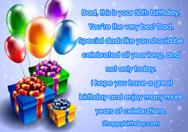Top 50th Birthday Wishes Messages 2HappyBirthday – Birthday Greeting Dad
