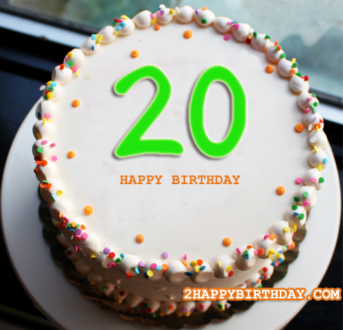 Amazing Happy 20Th Birthday Cake With Name 2Happybirthday Funny Birthday Cards Online Inifodamsfinfo