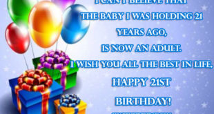 Happy 21st Birthday Wishes Messages