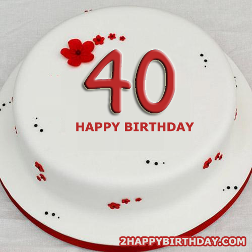 Awesome Happy 40Th Birthday Cake With Name 2Happybirthday Funny Birthday Cards Online Sheoxdamsfinfo