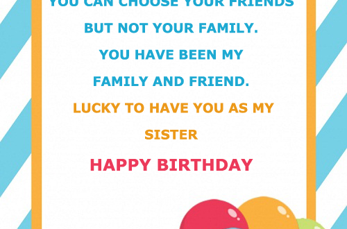 Happy Birthday Card For Sister With Name