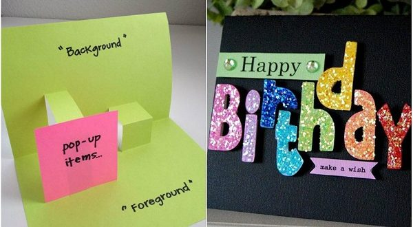 10 cool handmade birthday card ideas 2happybirthday 10 cool handmade birthday card ideas m4hsunfo