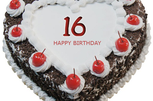Happy 16th Birthday Cake With Name Editor
