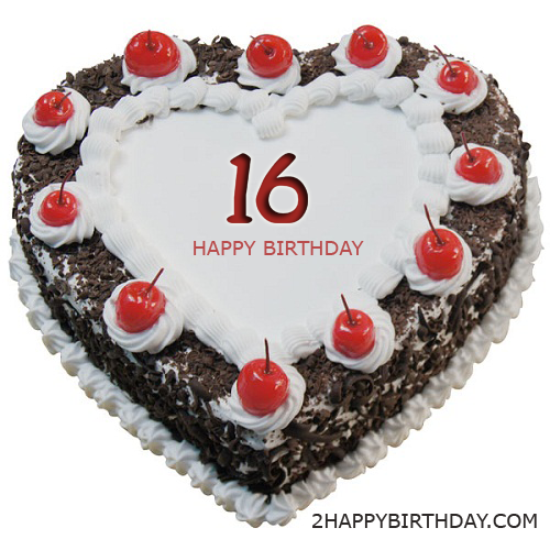 Happy 16th Birthday Cake With Name Editor 2happybirthday