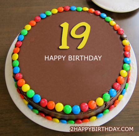 Happy 19th Birthday Cake With Name Editor