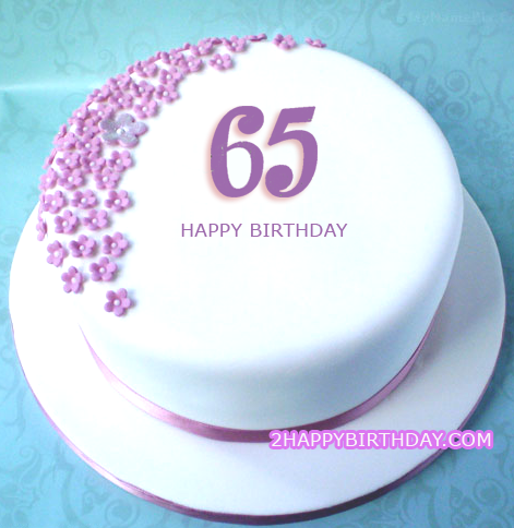 Happy 65th Birthday Cake Image With Name