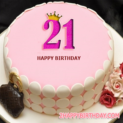 21st Birthday Cake For Girls With Name Editor 2happybirthday