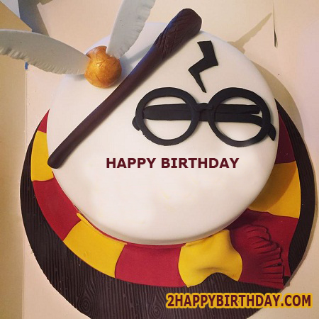 Excellent Harry Potter Themed Birthday Cake With Name 2Happybirthday Personalised Birthday Cards Paralily Jamesorg