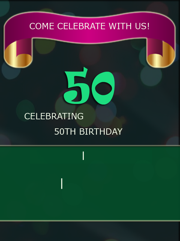 Create 50th birthday party invitations for friends 2happybirthday download 50th birthday invitation card filmwisefo