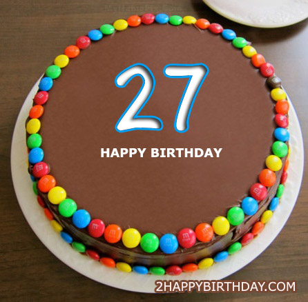 Awe Inspiring Happy 27Th Birthday Cake 2Happybirthday Personalised Birthday Cards Paralily Jamesorg