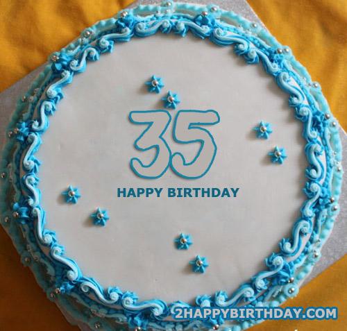 Sensational Happy 35Th Birthday Cake 2Happybirthday Personalised Birthday Cards Sponlily Jamesorg