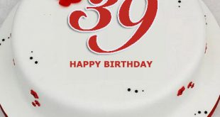 Wish 39th Birthday To Your Husband Wife Friends Or Dear Ones Make Customized Cake Them In A Special Way