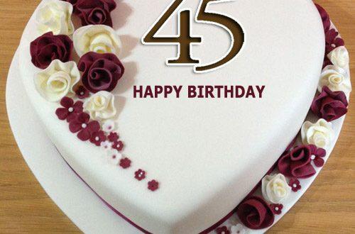 Happy 45th Birthday Cake