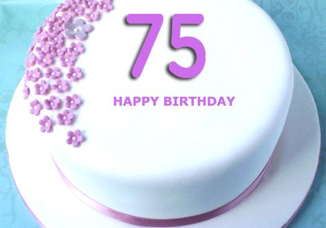 Happy 75th Birthday Cake