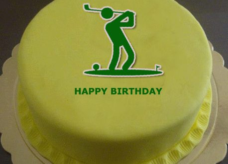 Marvelous Golf Themed Birthday Cake With Name 2Happybirthday Funny Birthday Cards Online Aeocydamsfinfo