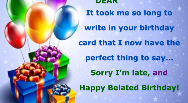 Funny Belated Birthday Wishes With Name 2happybirthday