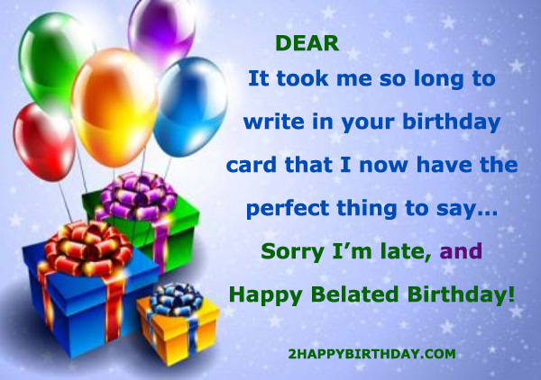 Funny Belated Birthday Wishes With Name
