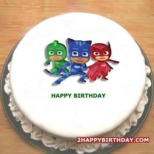PJ Masks Cake With Name