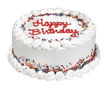 Happy Birthday Ice Cream Cake with Name