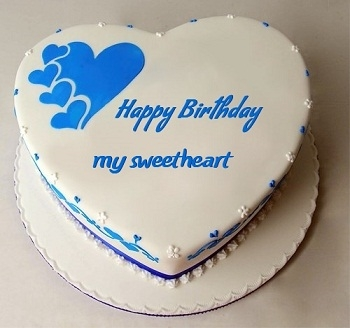 Heart Birthday Cake For Lover With Name Edit Cakes With Name
